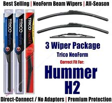 3-Pack Wipers Front & Rear - NeoForm - fit 2003-2009 Hummer H2 - 16160x2/10-1