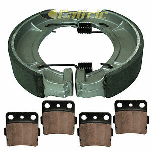 for Yamaha Grizzly 600 YFM600 1998 1999 2000 2001 Front Rear Brake Pads Shoes