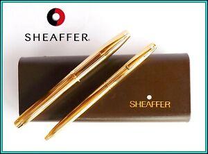"SHEAFFER ""Imperial 797"" Set of Fountain Pen & Ballpoint Pen - 14K Medium Nib NEW"