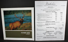 Weatherby Vanguard Rifle, Original 6 Page Brochure, and Price List Copy.