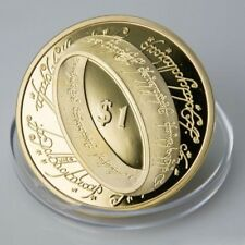 1 OZ GOLD PLATED LORD OF THE RING NOVELTY .999 COIN FREE CAPSULE UK SELLER 99p