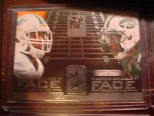 MIKE WALLACE/ANTONIO CROMARTIE DOLPHINS/JETS 2014 ELITE FACE 2 FACE FTBL CARD #6