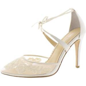 Bella Belle Womens Anita Lace Illusion Evening Pumps Shoes BHFO 9798