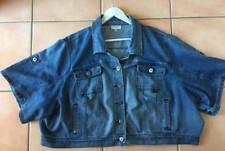 Plus Size Denim Solid Coats & Jackets for Women