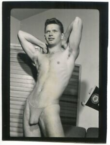 Vintage SIGNED Champion 1960s Contact Print Male Model DICK TRACY Cleft Chin