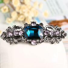 1x inlaid diamond Gracious Hair Barrette Hairpin Accessory Jewelry light blue GA