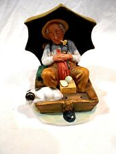 "Norman Rockwell ""Fishing"" Figurine-Limited Edition"