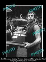 OLD POSTCARD SIZE PHOTO OF STURT FC GREAT BOB SHEARMAN 1972 SANFL PREMIERS