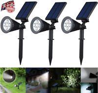 Solar 4 LED Spot Lights Wall Lights Garden Light Outdoor Waterproof Yard Lamps