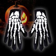 Unisex Party Costume Ghost Halloween Skeleton Bone Full Finger Gloves Accessory