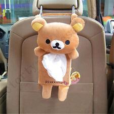 2018 Rilakkuma San-X Cute Plush Car Decor Tissue Box Back Seat Cover w/Strap 1pc