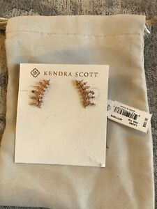 NWT Kendra Scott Laurie Ear Climber Earrings in Rose 🌹 Gold