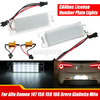 2x Canbus Led License Plate Light For Alfa Romeo 147 156 159 166 Gt Mito Brera Ebay