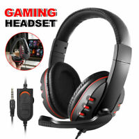 Gaming Headset Stereo Surround Headphone  Wired Mic For PS4 Xbox One Laptop US