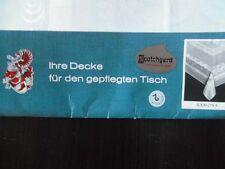 Tischdecke Damastdecke Scotchgard Fleckenschutz 158x114 hellblau CB1057