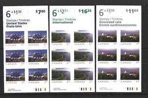 """CANADA 2020 SCENERY """"FROM FAR AND WIDE"""" 3 BOOKLETS UNMOUNTED MINT, MNH"""
