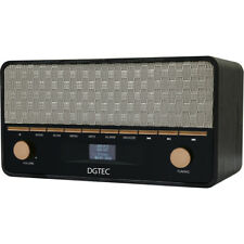 DGTEC Retro DAB/FM Radio with Bluetooth/LCD Digital Display/Alarm Clock/AUX inpu