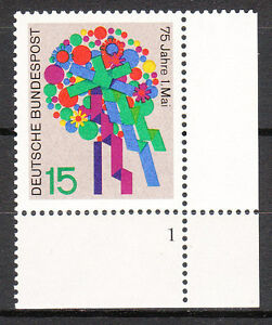 BRD 1965 Mi. Nr. 475 Postfrisch Eckrand 4 Formnummer 1 TOP!!! (9605)