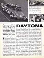 1964 DAYTONA 500 / RICHARD PETTY WINNER ~ ORIGINAL 6-PAGE ARTICLE / AD