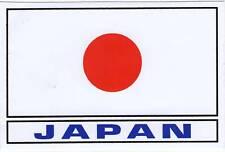 AUTOCOLLANT STICKER DRAPEAU JAPON JAPAN DIM. 13 X 8,5 CM