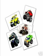 NEW! 48 MONSTER TRUCK TEMPORARY TATTOOS PARTY FAVORS REWARDS