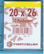 1 Blister 50 Pochettes Transparentes simple soudure 20x26