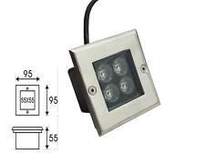 5 x 4w Spot Enterre LED Lampe Encastrable Exterieur Jardin Terrasse IP67