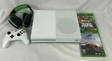 Microsoft Xbox One S 500GB White Console Controller Games & Headset Clean Tested