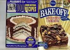 TWO Pillsbury Cookbooks 5th & 34th Grand National Bake Offs