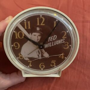 Vintage Ted Williams Boston Red Sox alarm clock - Partially Working