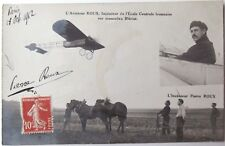 Pierre Roux Early French Aviator Signed French Postcard 1st Flight 1912