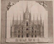 1704 Van der Aa Veduta Cattedrale Duomo Milano Cathedralis Templi Mediolanensis
