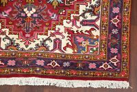 5'x6' Geometric Heriz Oriental Area Rug RED Wool Hand-Knotted Geometric Carpet