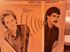 "Hall & Oates 12"" Promo B&W PIC HOW DOES IT FEEL TO BE BACK 4.35 Double Sided WL"