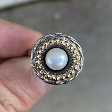 14k & Sterling Ring Size 8. / Lot#6