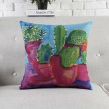 Cushion Covers Modern Retro Bright Green Cactus. Home Decor Contemporary look