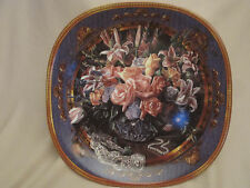 Roses collector plate Dreams To Gather Renee McGinnis Floral Bouquet Lily