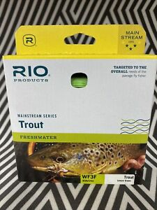 RIO MAINSTREAM TROUT WF-3-F #3 WT. WEIGHT FORWARD FLOATING FLY FISHING LINE