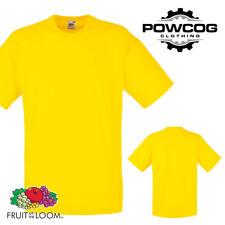 Fruit of the Loom 100% Cotton Plain Mens Womens T-Shirt | 25 COLOURS | S - 5XL