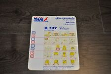 Safety Card Orient Thai B747 Classic
