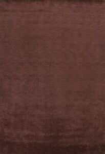 Contemporary Solid Dark Brown Gabbeh Oriental Area Rug Hand-Knotted Wool 9'x12'