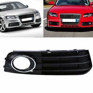 For Audi A4 B8 2007-2011 Passenger Side Front Bumper Fog Light Grille Cover Trim