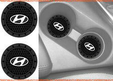 "(2) 2.75"" Hyundai Logo Round Cup Holder Coaster Universal New Free Shipping USA"
