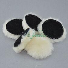 5pcs 3Inch Lambs Woolen Heavy Cut Polishing Pad& Polishing Pad 100% Wood For Car