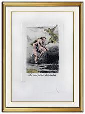 Salvador Dali Etching HAND SIGNED Original Surreal Artwork Les Caprices De Goya