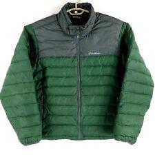 Eddie Bauer Green & Gray Down Filled Puffer Jacket Mens XXL 2XL