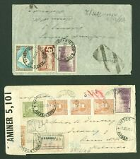 ARGENTINA WWII Air mail cover and Expresse cover opened by German censor