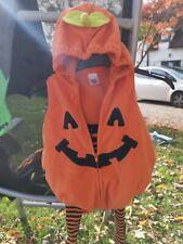 Lindo conjunto de calabaza de Halloween Acolchado Con Calzas 6-9m Carters