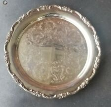 Vintage 11in INTERNATIONAL SILVER COMPANY  Round SILVER PLATE TRAY