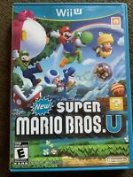 Super Mario Bros U - Wii U Game - With Manual Good Shape Tested